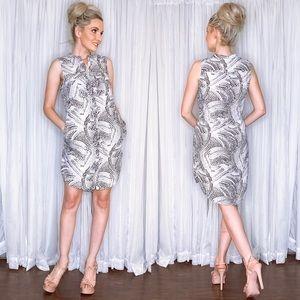 H&M Dresses - Animal Print Button Down Dress